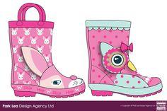 MOCK-UP EXAMPLES - Childrens-Toddler-Girls-Animal-Novelty-Wellingtons