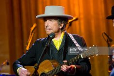 Singer Bob Dylan at 'In Performance at the White House: A Celebration of Music…