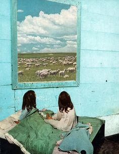 COUNT SHEEP by Beth Hoeckel Collage & Design