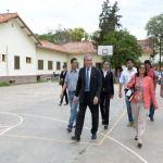 Lucía Corpacci recorrió las obras del Hogar Escuela y la Casa de Octaviano Navarro