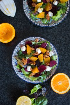 Beetroot, Goat Cheese and Orange Salad + Candied Walnuts — My Moroccan Food