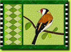 paper piecing template bird - Recherche Google
