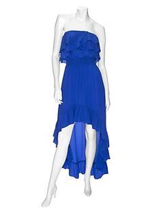 Jay Godfrey EXCLUSIVE Strapless Ruffle Hi/Lo Dress (Intermix)
