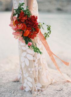 Dramatic Desert Wedding Inspiration - #desertinspiration #nudeweddingdress #ruedeseine
