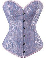 Sexy/&Stylish Steampunk Red Waist Corset for Women Lace Up Floral Overbust Corset