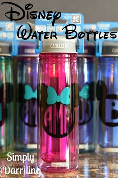 Disney Water Bottles Personalized Disney Water Bottles - a must have for any Disney trip.Personalized Disney Water Bottles - a must have for any Disney trip. Disney Planning, Disney Tips, Disney Love, Disney Stuff, Disney Family, Trip Planning, Disney Theme, Disney World Vacation, Disney Cruise