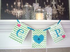 Wedding Banner Chevron banner My Beloved Personalized Initial by lolaandcompany, $12.00
