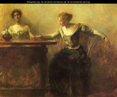 The Fortune Teller - Thomas Wilmer Dewing