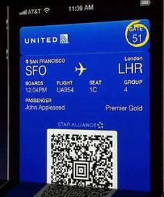 United integration with Passbook amazing!!