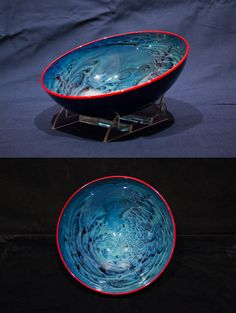These glass bowls from glass artist Josh Simpson are available at our Museum Store.