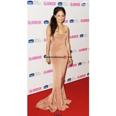 Nicole Richie Pink Strapless Silk Gown Celebrity Dress For Sale Glamour Women Of The Year 2010