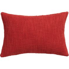 """basis red 18""""x12"""" pillow with feather-down insert"""