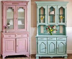 MENTŐÖTLET - kreáció, újrahasznosítás: Kredencek felújítva My Room, China Cabinet, Chalk Paint, My House, Layout, Living Room, Storage, Furniture, Decorations