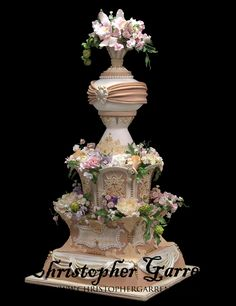 A Christopher Garren's masterpiece.  He's one of my absolute favorite cake designers.  I can't imagine the hours that went into this.