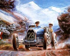 coche clásico - clásico, viejo coche, pintura, arte, coches, gente