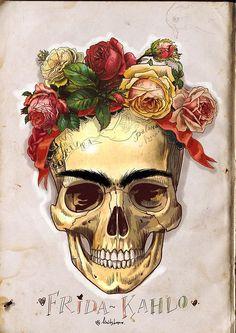 Frida meets Dia de los Muertos.