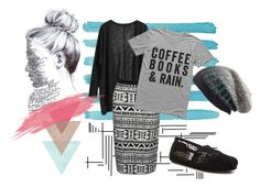 """""""Coffee books and rain"""" by ellie-288 ❤ liked on Polyvore featuring Michael Stars and TOMS"""