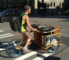 Mobile DJ and turntables