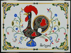 Portugal, Lucky Plant, Portuguese Tiles, Roosters, My Heritage, Lucky Charm, Key Chains, Red Black, Robin