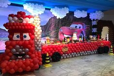 Birthday party themes for kids race cars Ideas Disney Cars Party, Disney Cars Birthday, Cars Birthday Parties, Birthday Balloons, Birthday Kids, Car Themes, Kids Party Themes, Ideas Party, Baby Shower Decorations For Boys