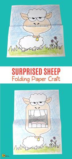 Surprised Sheep Folding Paper Craft