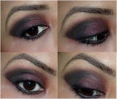 Burgundy Smoky Eye Makeup
