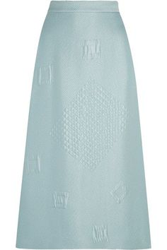 Hillier Bartley - Quilted Jacquard Midi Skirt - Mint - UK10