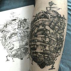 Howl's Moving Castle, Studio Ghibli tattoo