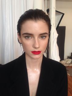 Colleen owns this bold red lip! I used my favorite Stila brush to create the perfect pout!