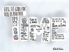 How to gain control of your free time Laura Vanderkam - Ted talk  @saramichelazzo #graphicrecording #sketchnoting #procreate app #iPadpro