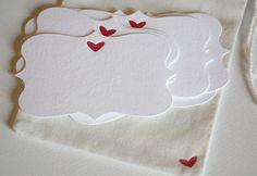 Letterpress Heart Gift Tags by penelopespress on Etsy