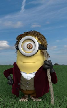 Minion... Doesn't really look like a minion, but love it how they made him like Bilbo. XD