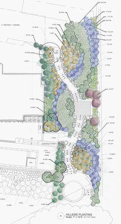hillside garden design