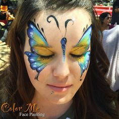 Butterfly Face Painting - Color Me Face Painting - Vanessa Mendoza