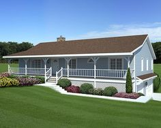 Porch on pinterest ranch homes ranch style homes and for Raising roof on ranch house