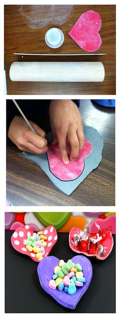 This Valentine's Day art activity is a fun and easy project using clay to make candy dishes! Don't have a kiln? Do have a kiln? Either way, I have designed this project to work for you!