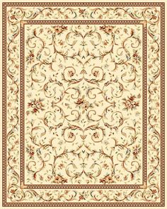 Traditional NEW Area Rug Persian Carpet ORIENTAL Ivory 5' 3'' x 7' 6'' | eBay