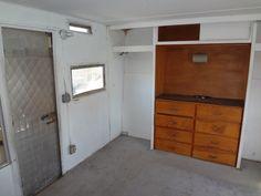Bedroom of trailer.