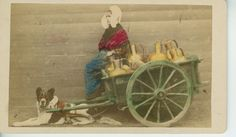 Antwerp, Belgium Milk Cart Dog   1875