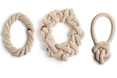 On a Rope - Eleanor Bolton - crafthaus Textile Jewelry, Macrame Jewelry, Fabric Jewelry, Jewellery, Felt Necklace, Rope Necklace, How To Make Rope, Cotton Rope, Knots