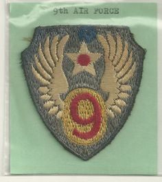 U s 9th Army Air Force Based in England English Embroidered SSI Shoulder Patch…