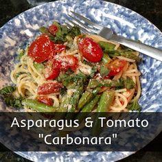 """Tomato And Asparagus """"Carbonara"""" Recipe — Dishmaps"""