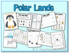 Toddler Activity - Polar Lands Preschool Printables