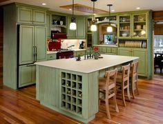 Kitchens   color, wine holder open plates