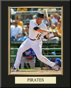 One 8 x 10 inch Pittsburgh Pirates photo of Neil Walker inserted in a gold slide-in frame and mounted on a 10 x 13.5 inch solid black finish plaque with a customizable nameplate*.  $39.99 ArtandMore.com  @