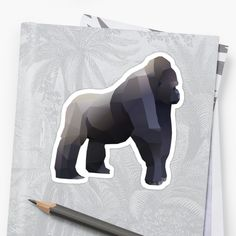 Bring out your wild side with our geometric silverback gorilla print. Silverback Gorilla, Geometric Animal, Stickers, Artwork, Prints, Animals, Design, Decor, Work Of Art
