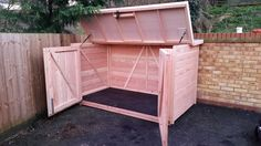 Natural bike shed with room for 5 adult bikes £1170
