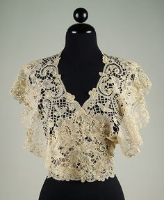 Fichu, 1899, cotton, American, The Met