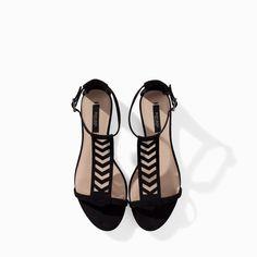 Zara Flat Lattice Sandal