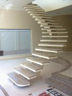 Ideas for concrete stairs ideas stairways Spiral Stairs Design, Stair Railing Design, House Front Design, Modern House Design, Cantilever Stairs, Stair Plan, Building Stairs, Concrete Stairs, Stairs Architecture